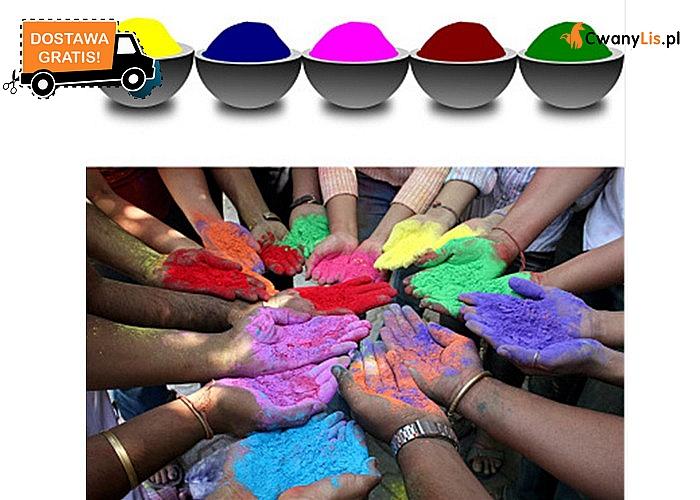 Kolorowy proszek jako alternatywa konfetti