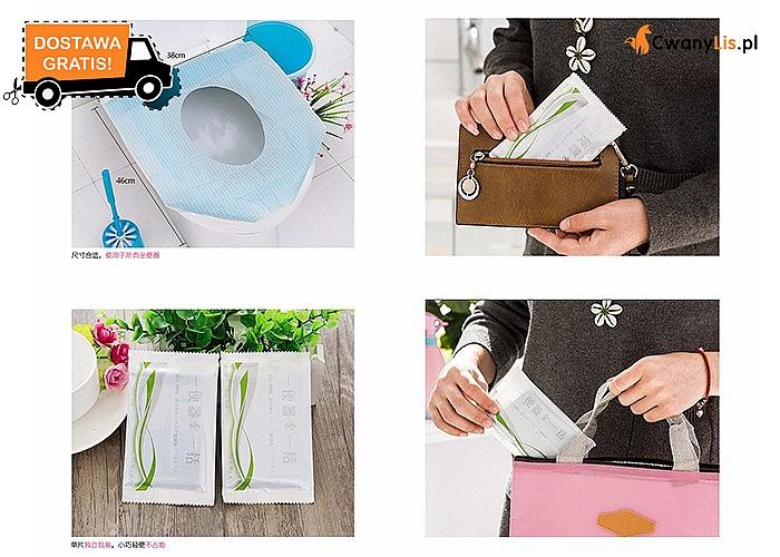 Wodoodporna podkładka higieniczna na deskę sedesową.