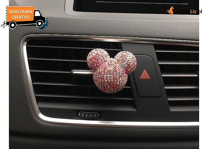 Samochodowy odświeżacz powietrza w stylu myszki Miki! Mnóstwo kolorów!