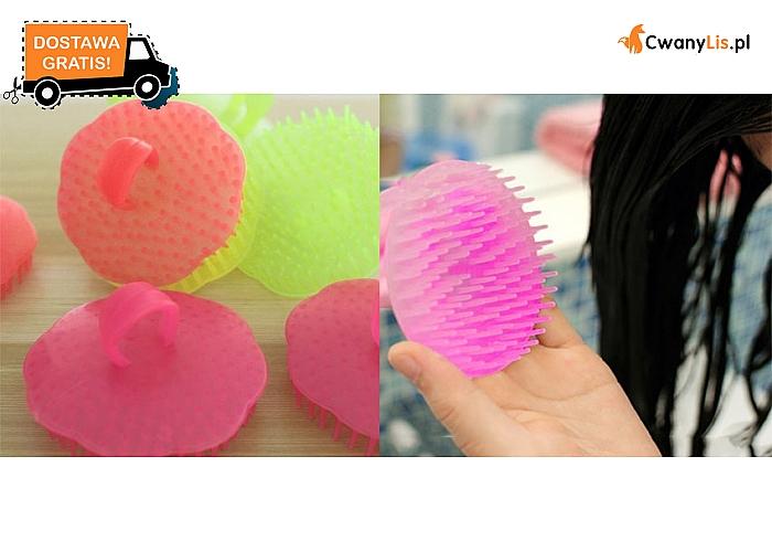 SZCZOTKA do mycia i masażu skóry głowy. Czyszczenie, masaż i odprężenie w jednym! Przesyłka GRATIS.