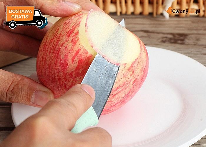 Ekologiczny niezbędnik kuchenny. Obieraczka do warzyw i owoców + nóż szefa z ekotworzywa. Różne kolory do wyboru