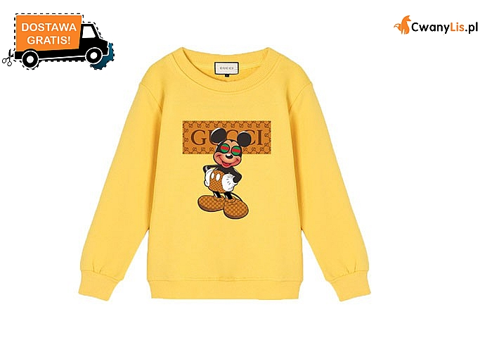 Bluza dziecięca GUCCI z myszką Miki! Najwyższej jakości materiał! 7 kolorów do wyboru! Mnóstwo rozmiarów!
