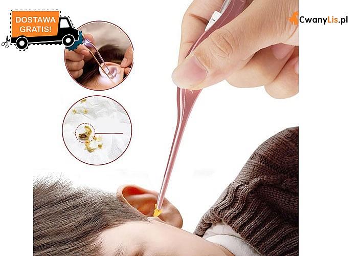 Pęseta do czyszczenia pozwala w bezpieczny sposób dbać o higienę uszu