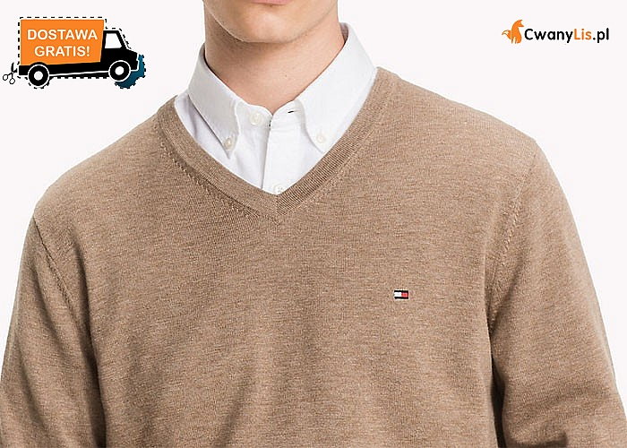 REWELACJA! Klasyczny sweterek męski TOMMY HILFINGER