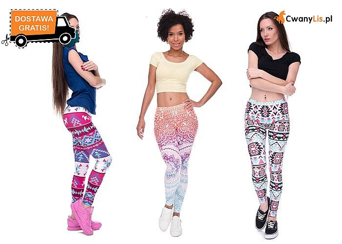 Świetne damskie legginsy – wiele wzorów i kolorów!