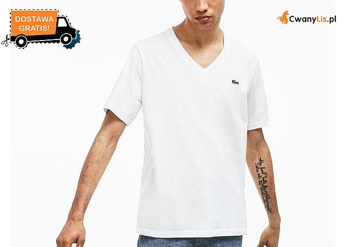 Basicowy t-shirt męski od Lacoste! 2 uniwersalne kolory i dekolt w serek to doskonała baza do wielu stylizacji!