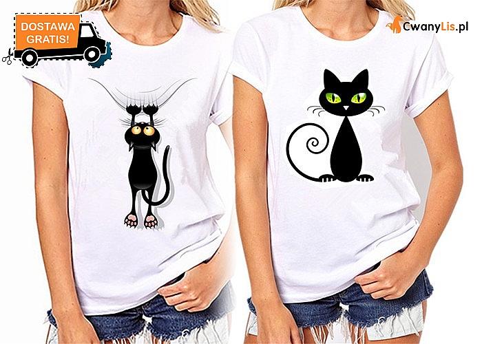 Hit! Koszulka damska z kotem! Mnóstwo wzorów! Najwyższa jakość!