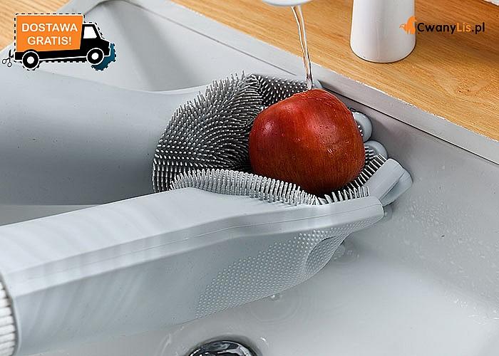 Magiczne rękawice idealne do kuchni! Świetne do zmywania, przenoszenia gorących naczyń, szorowania owoców i warzyw.