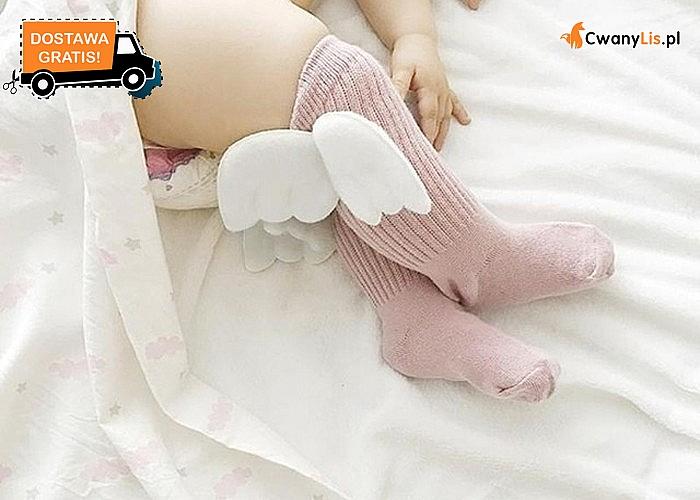 Urocze bawełniane skarpetki/podkolanówki ze skrzydełkami dla niemowląt! Doskonałe na prezent! 4 wzory do wyboru!
