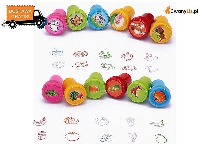 Kolorowa zabawa dla najmłodszych! Stempelki z różnymi motywami i kolorowym tuszem!