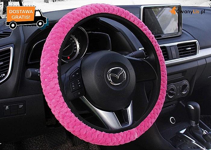 Mięciutka okazja! Pluszowy pokrowiec na kierownicę w świetnych kolorach!