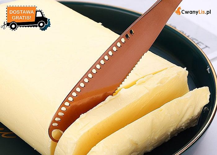Nóż, który poradzi sobie nawet z twardym masłem! Ząbkowana krawędź sprawia, że rozsmarowanie jest bezproblemowe!