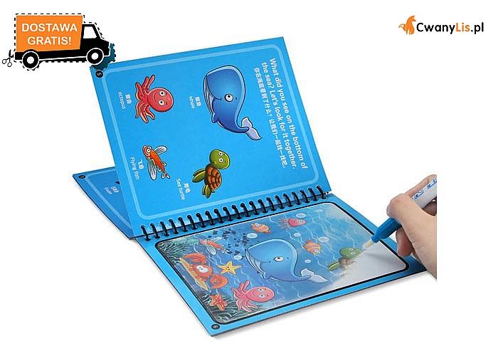 Wodne kolorowanki dla najmłodszych! Doskonała zabawa dla każdego dziecka!