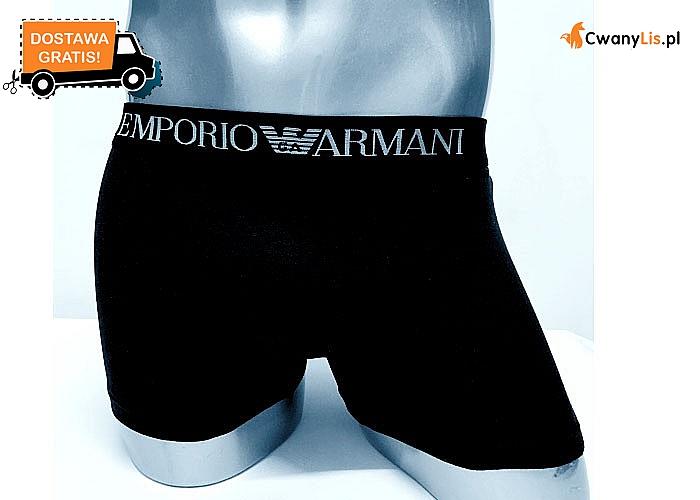 Bokserki męskie wykonane z bawełny idealnie dopasowane do sylwetki, w pasie elastyczna taśma z logo Emporio Armani