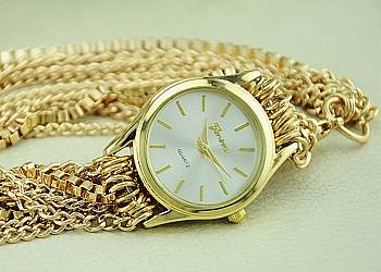 Zegarek z łańcuszkami