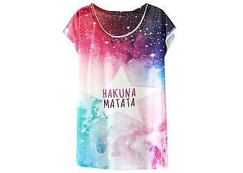 Kolorowy t-shirt damski