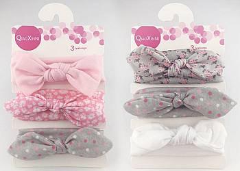 Bawełniane opaski na głowę dla dziewczynek